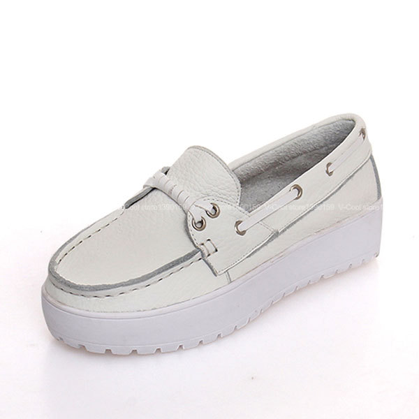 2015 Woman Leather Creepers Flat Platform Espadrilles Womens Fashion Creepers Shoes Woman Slip On Soft Insole Loafers Zapatos