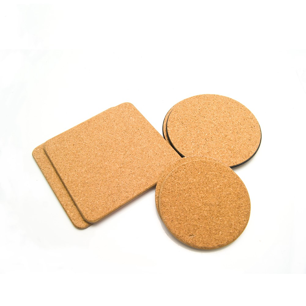 China factory wholesales cheap cork board coaster 100% waterproof round 3mm thickness cork cup coaster pad