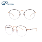 GP1798 Fashionable eyewear china wholesale half rim vintage optical round metal glasses frame