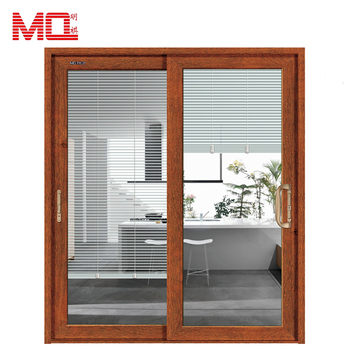 Adjustable Built In Blinds Aluminium Double Leaf Glass Door Buy