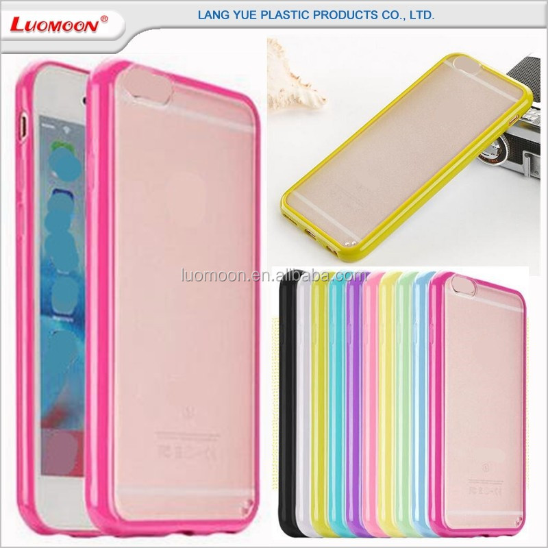 contracted style diy tpu+pc frosted bumper case cover for iphone 6 6s plus