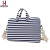 17.3 inch Stripe Laptop Briefcase Messenger Bags with Handle and Strap