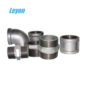 pumping tee gi elbow pipe fittings galvanized malleable iron fittings en10241 hot dipped galvanized nipples