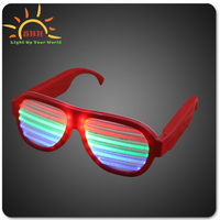 Shutter Shades flashing glasses without battery box sound activated sunglasses for Concert Night/led glasses