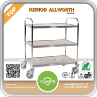 Heavy Duty Distribution Logistic Cart with Wooden Board
