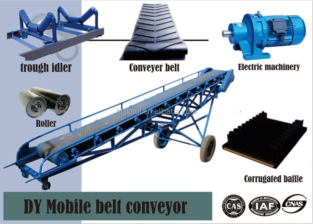 Used in coal mine grain industry dy mobile conveyors 650mm for Industrie mobel