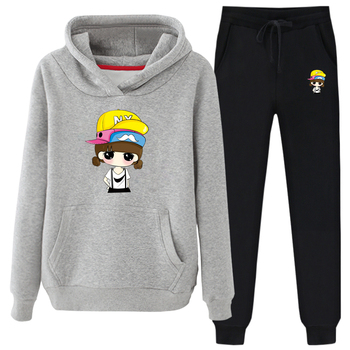 OEM Hoodies Sweatshirts Pullover Hoodie Printing Lady Trousers Women Suit