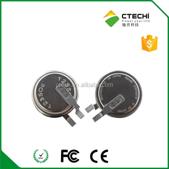 High temperature Coin cell for TPMS Sensor Original Maxell CR2450HR
