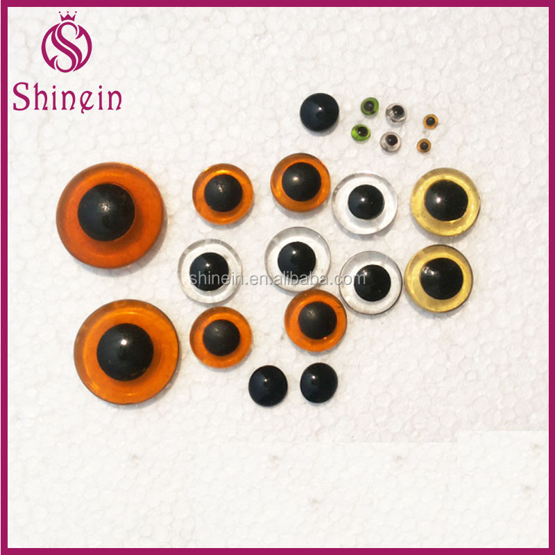 Wholesale 3-40mm glass doll eyes for DIY CRAFT