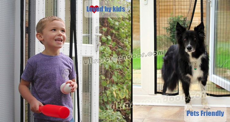 Premium Magnetic Screen Door With Top Lace