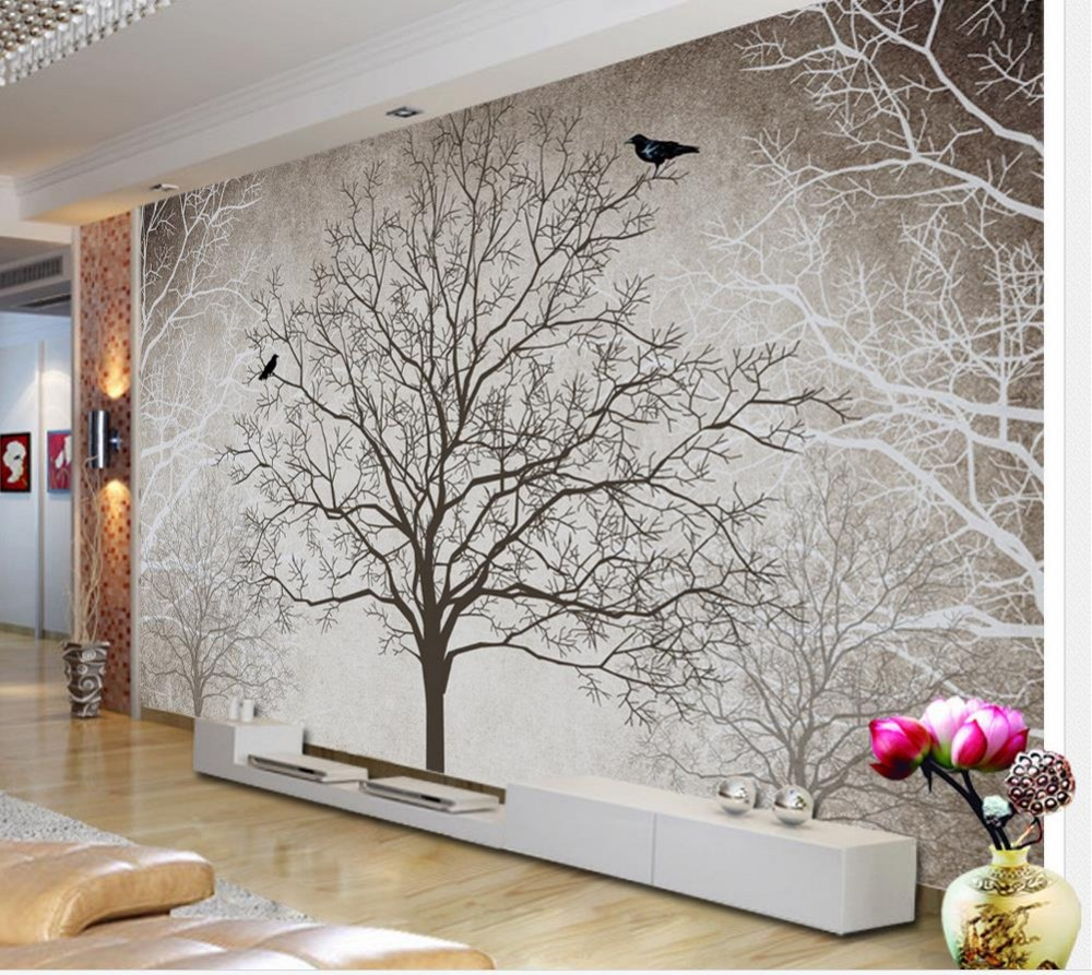 Custom 3D Murals Living Room Sofa TV Bedroom Background