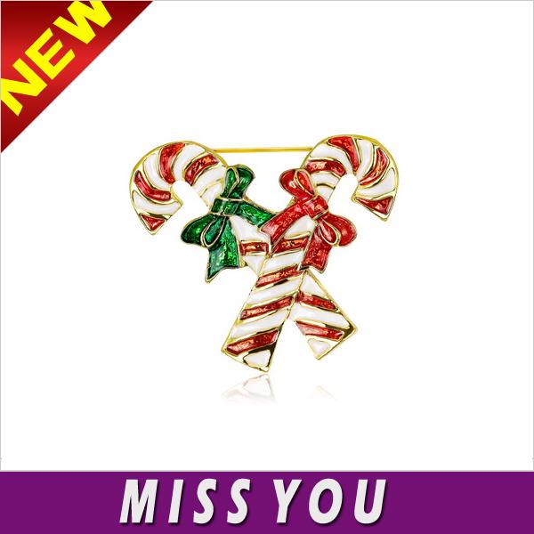 adornos de navidad del bastn de caramelo de lujo ramillete broche colorido