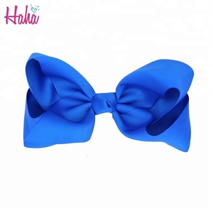 Fashion School Uniform Chevron Rhinestone Jojo Clip Ribbon Glitter Hair Bow