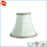 Promotion wholesales bell silk slubbed fabric chandelier table lamp shade
