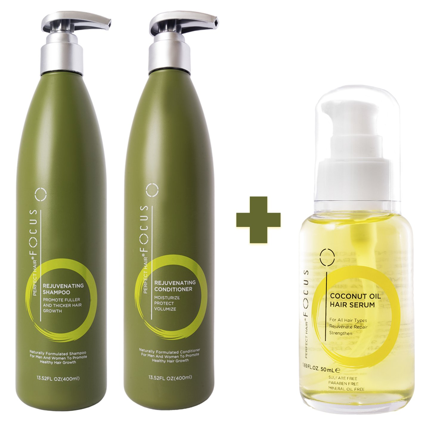 Hair Growth Shampoo and Conditioner Bundle with Hair Oil - Deep Conditioning Hair Treatment Hydrates & Reduces Frizz While Restoring Your Natural Hair - All in One Hair Care - (3 Items)