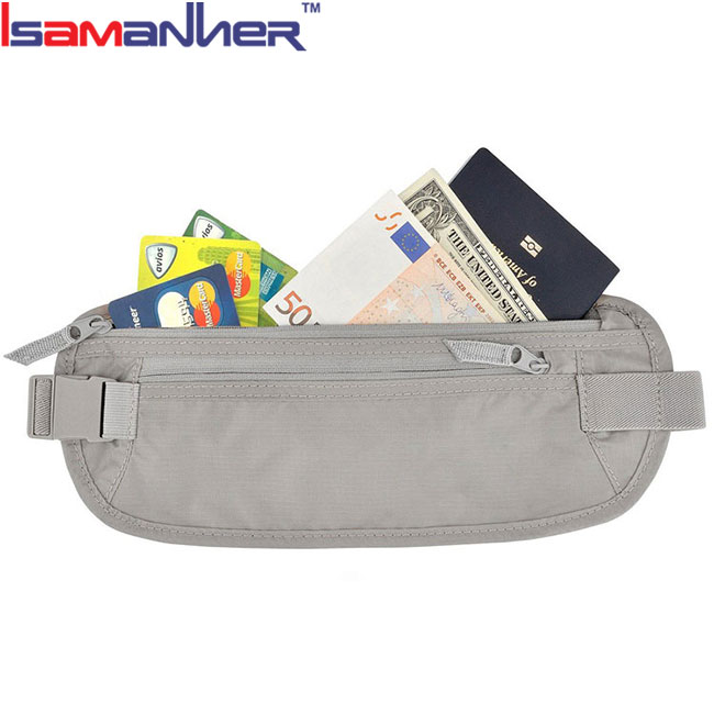 Waist stash bag travel ticket wallets lightweight waist wholesale travel wallets