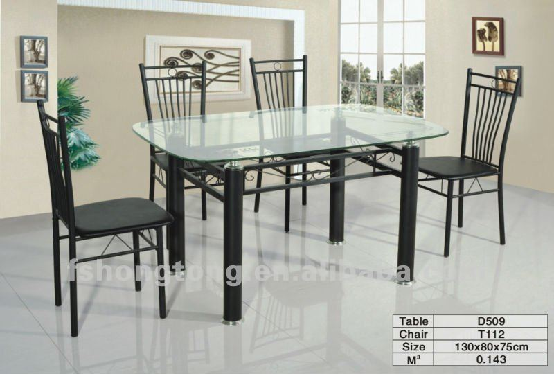 Cheap Dining Room Tables And Chairs For 4 Person Glass Top Simple Design -  Buy Glass Dining Table,Glass Top Dining Tables And Chairs,Modern Dining ...