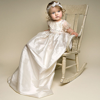 vintage baby girl boys lace champagne first communion dresses
