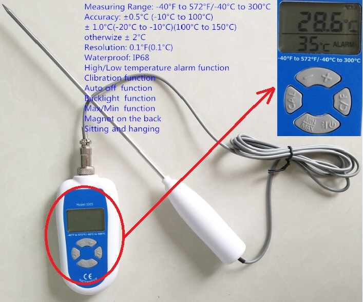 Digital Probe Kitchen Cooking BBQ Food meat Thermometer