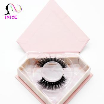3D synthetic glue classic look/custom length fake eyelash in black paper/custom lash box