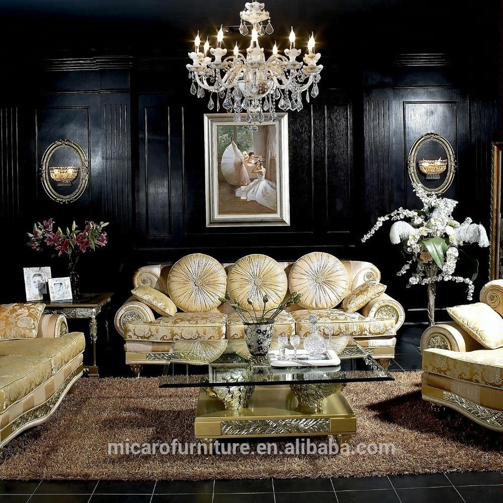 Latest Luxury Italian Antique Living Room Furniture Sofa Sets