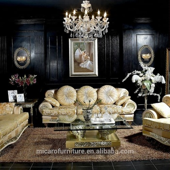 Latest Luxury Italian Antique Living Room Furniture Sofa Sets Design Set