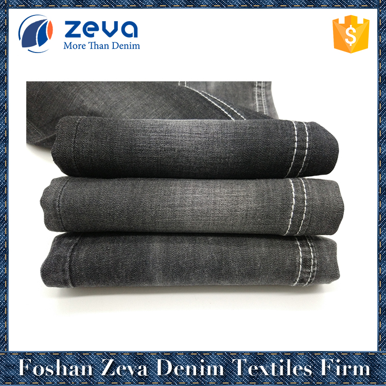 2017 high quality hot sale 2/1 plain weave 100% cotton woven denim fabric cloth material