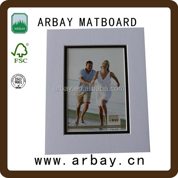 Acid free uncut and pre-cut multi opening frame mount board for picture photo frame digital photo frame