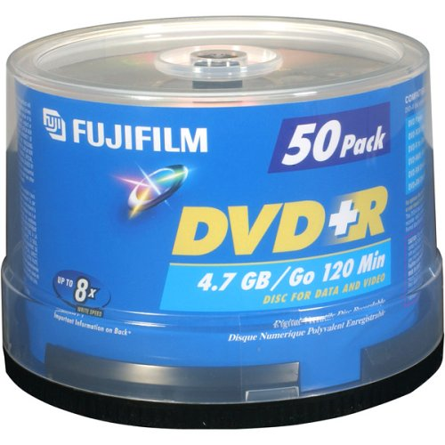 Fujifilm Media 25303051 DVD+R 4.7 GB 120 Minutes 16X Storage Media - 50 Pack Spindle