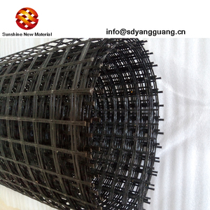 Road construction psa geogrid glass fiber grid for asphalt layer reinforced