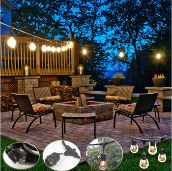 Old Fashioned Outdoor String Lights,Retro Lamp,Globe Outdoor ...