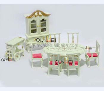 Dollhouse Calidad De Madera Miniatura Muebles Silla Mesa Armario ...