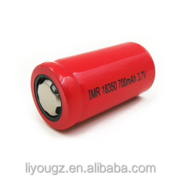 China supplier hot Selling MP 18350 700mAh 3.7v Lipo Battery for Kids Cars&E-bike/electric scooter