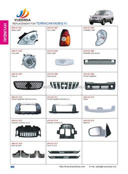 Terracan Parts Korean Car Accessories Terracan 04 Head Lamp Tail