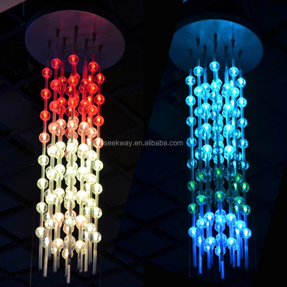 Seekway Rgb Full-color Led Matrix Cube With Crystal Ball