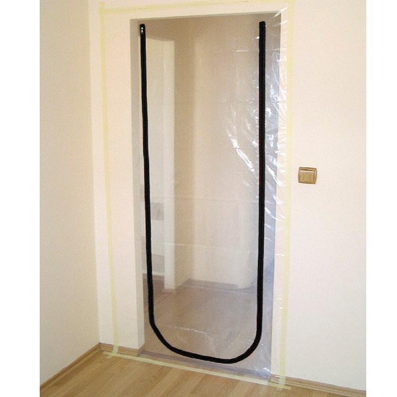 Heavy Duty Temporary Plastic U-Shaped Zipper Door/Construction Sewed Temp Plastic Film Zip Door PE or PVC