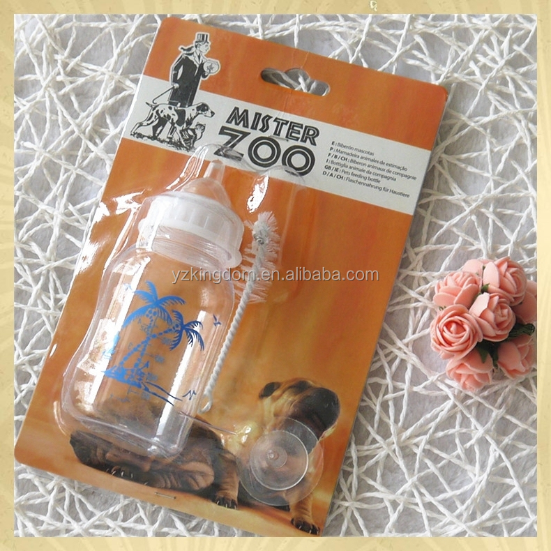 Dog accessories 120 ml PP feeding bottle for pet dog