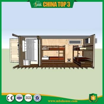 Schlafzimmer Ein Bad 40ft Behälter Haus Grundriss