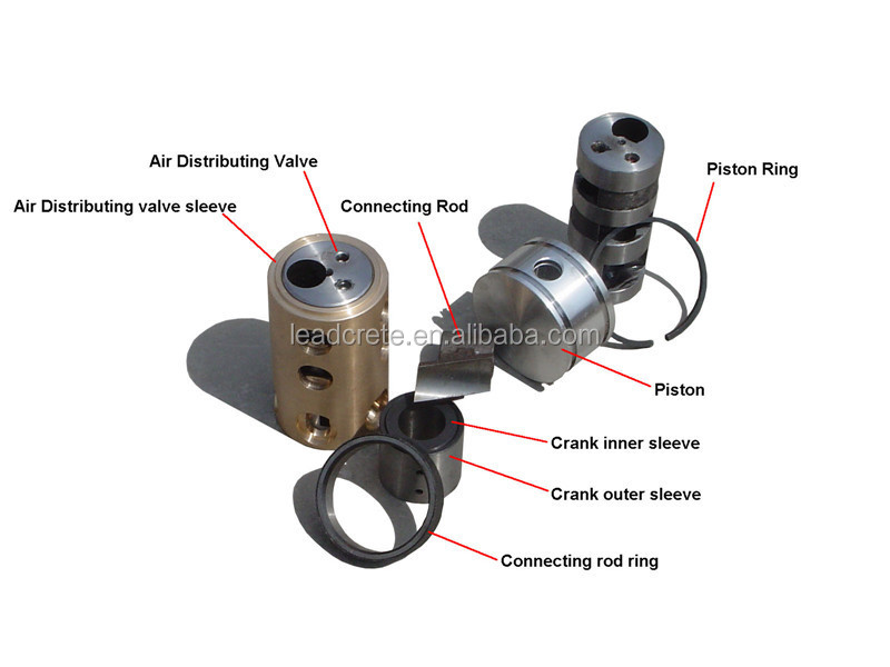 High torque low rpm used for coal mining air piston motor for Low rpm air motor