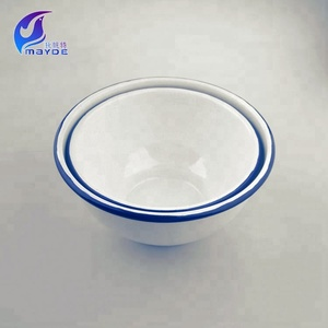 white enamel bowl storage