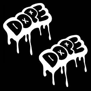 "iJDMTOY (2) 5"" Cool JDM Euro Urban Graffiti Drip Style Dope Car Window Decal Stickers"