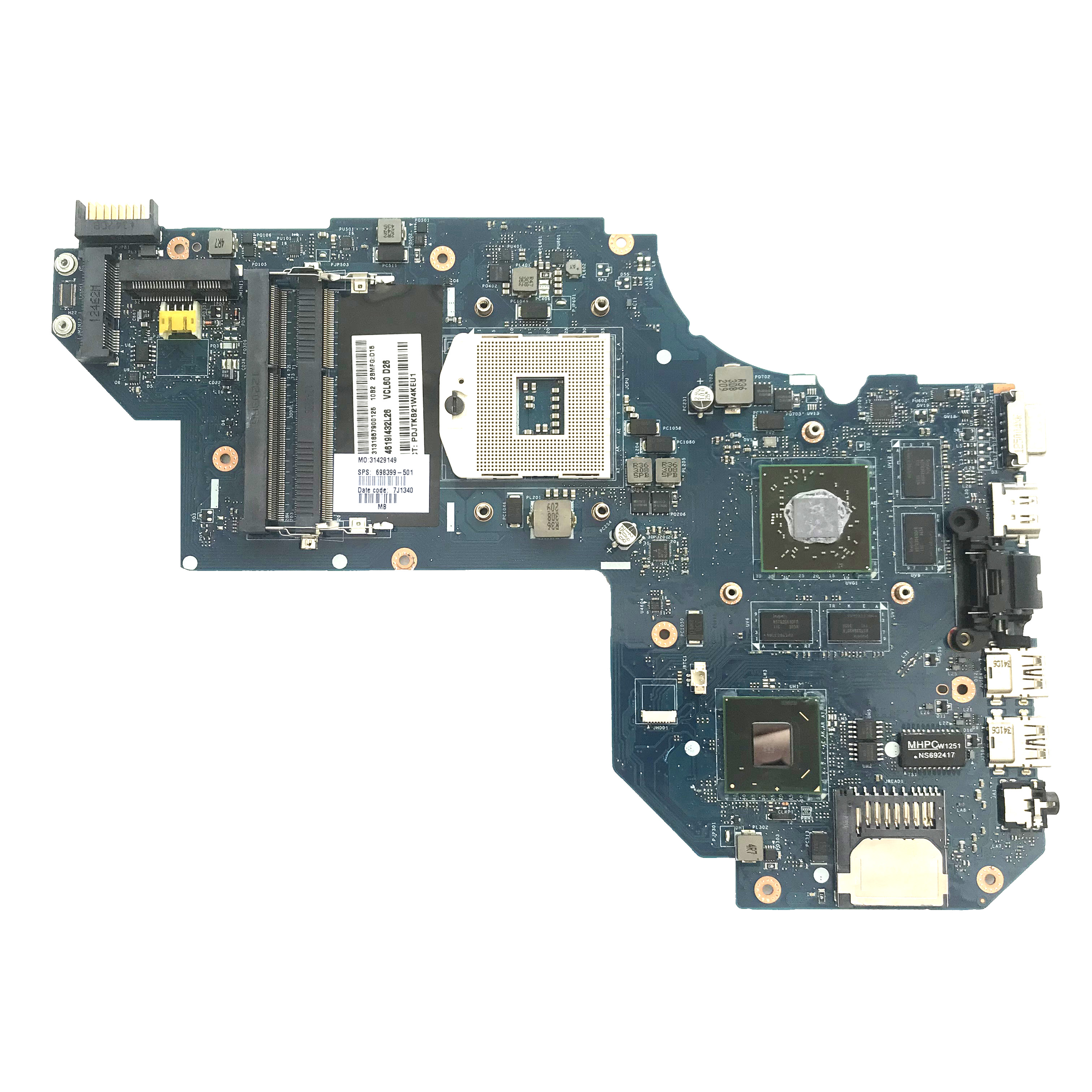 High Quality Laptop Motherboard For Hp Pavilion M6 1000 698399 501 698399 001 Qcl50 La 8711p Hm76 Pga989 Hd7670m 2gb Fully Test Buy M6 1000 Motherboard 698399 501motherboard La 8711p Motherboard Product On Alibaba Com