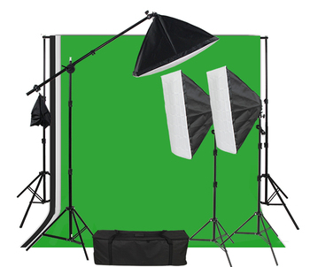 3pcs 50x70CM Softbox photography tent lighting kit soft box backgrounds and light stand equipment photo studio kit