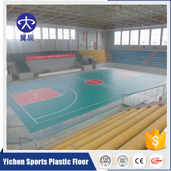 High quality indoor pvc plastic litchi pattern flooring for Indoor basketball court price