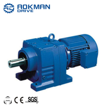 AOKMAN Cast Iron RF18 To RF68 Inline Helical Geared Box Motor with 220V 380V AC Motor
