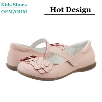 Lovely Design Nude Girls Pink Sheepskin Leather Dance Shoes Oxford