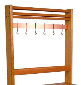 Rouge et Noir Pro Prep Pot Rack Number of Hooks: None, Pot Rack Width: 30""