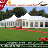 15x30m Polygon Aluminum Frame arab White 500 Seater Wedding Tent With Tables