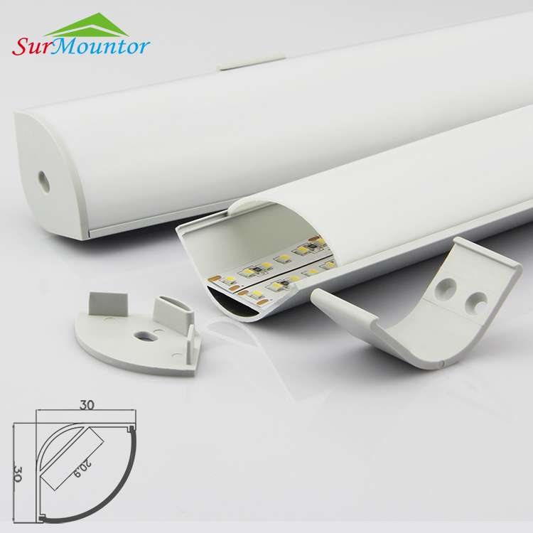 OEM Led Strip Aluminium Profile 1M 1.5M 2M Led Strip Profile/led aluminum extrusion for corner