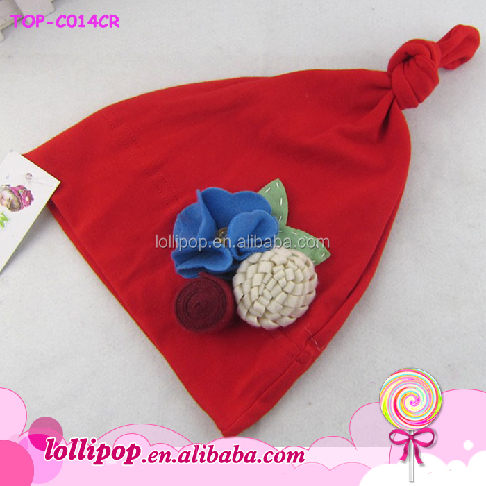 85c86d136f1 OEM knitted beanie baby winter black adjustable one knot hat wholesale cute  baby boy softtextile cotton